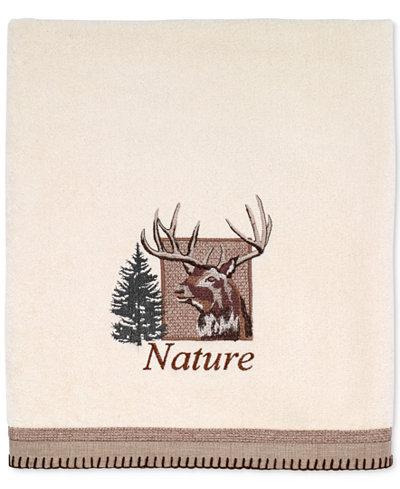 Avanti Nature Walk Cotton Embroidered Bath Towel