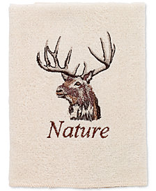 Avanti Nature Walk Cotton Embroidered Washcloth