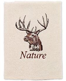 Avanti Nature Walk Cotton Embroidered Washcloth