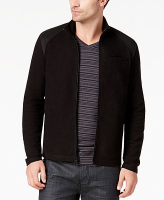 Alfani Men's Contrast-Shoulder Full-Zip Jacket, Created for Macy's