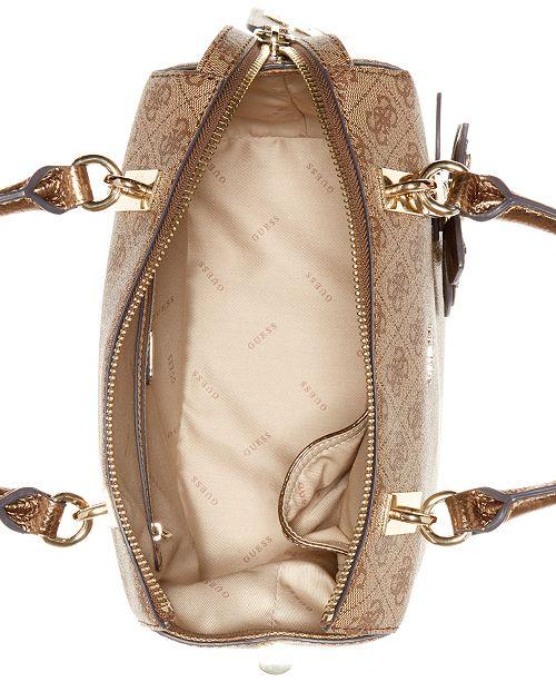ca85794637 GUESS Sibyl Signature Small Box Satchel   Reviews - Handbags ...