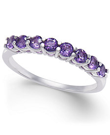 Amethyst Band (3/4 ct. t.w.) in 14k White Gold