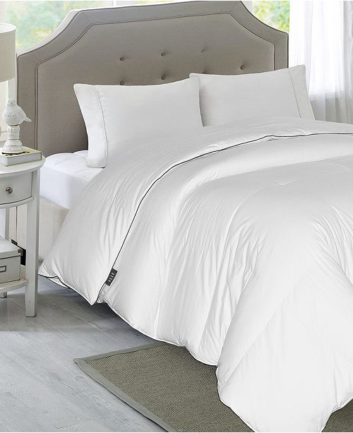 Blue Ridge Elle 1200-Thread Count Cotton King White Down Comforter