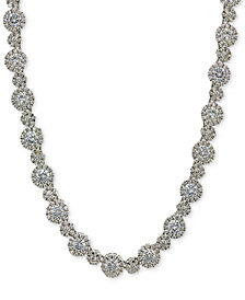 Giani Bernini Cubic Zirconia Link Collar Necklace in Sterling Silver, Created at Macy's