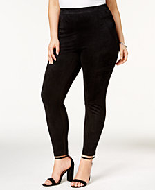 Love Scarlett Plus Size Faux-Suede Leggings