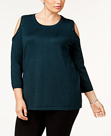 Love Scarlett Plus Size Cold-Shoulder Sweater