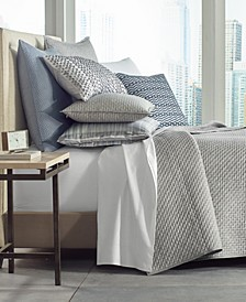 Diamond Stripe Quilted Coverlet Collection, Created for Macy's