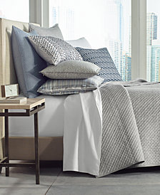 Hotel Collection Diamond Stripe Quilted Full/Queen Coverlet, Created for Macy's