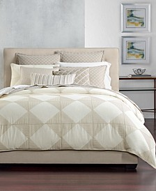 Cotton Diamond Embroidered Full/Queen Duvet Cover, Created for Macy's