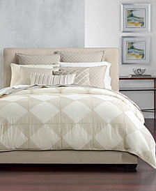 Hotel Collection Cotton Diamond Embroidered King Duvet Cover, Created for Macy's