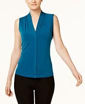 b0b8e2c0775bf Calvin Klein Pleated Blouse