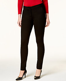 Alfani Petite Tummy Control Skinny Pants, Created for Macy's