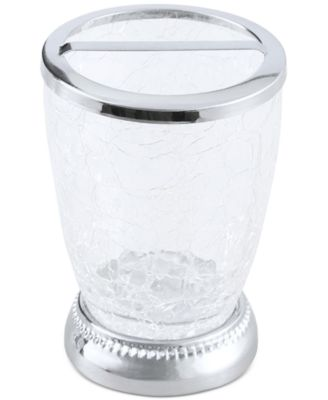 Serene Crackle Glass Toothbrush Holder, Created for Macy's