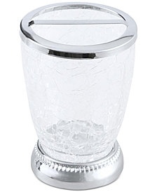 JLA Home Serene Crackle Glass Toothbrush Holder, Created for Macy's