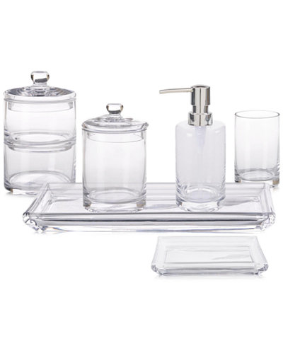 Hotel Glass Bath Accessories, Created for Macy's