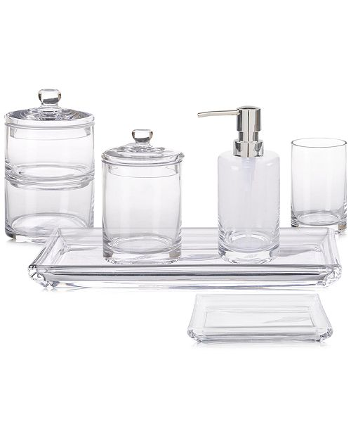 Jla Home Hotel Glass Bath Accessories Created For Macy S