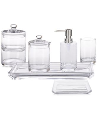 Add Poise And Classic Style To Your Bath With These Hotel Bath Accessories.  The Timeless Silhouettes Are Executed In A Transparent Glass That Works  With ...