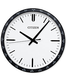 Citizen Gallery Black Wall Clock