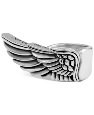 King Baby Men's Winged Ring in Sterling Silver