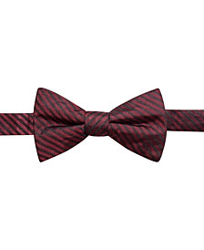 Ryan Seacrest Distinction™ Men's Floyd Stripe Pre-Tied Silk Bow Tie, Created for Macy's