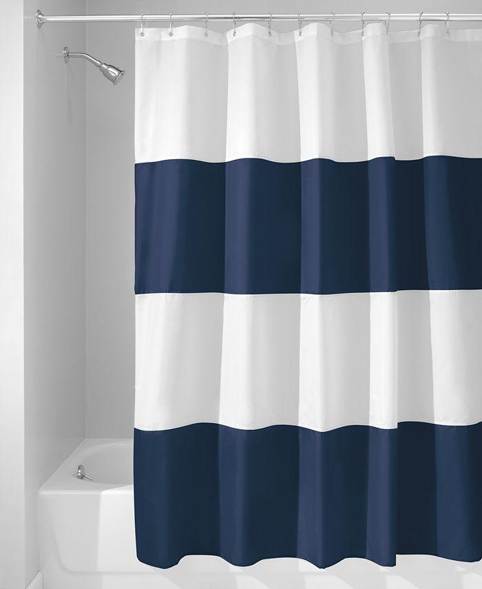 "Interdesign - Zeno Stripe 72"" x 72"" Shower Curtain"