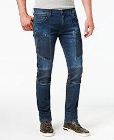 True Religion Men's Rococo Skinny Fit Stretch Moto Jeans