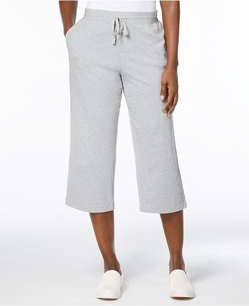 Petite Drawstring Capri Pants, Created for Macy's