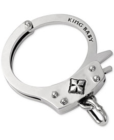 King Baby Men's Handcuff Bracelet in Sterling Silver