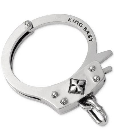 King Baby Men S Handcuff Bracelet In Sterling Silver