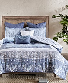 Maggie 7-Pc. Cotton Full/Queen Comforter Set