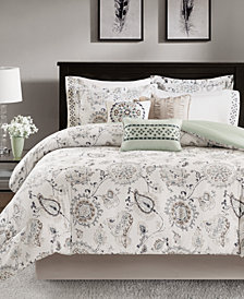 Madison Park Bonnie 9-Pc. Cotton Reversible Comforter Sets