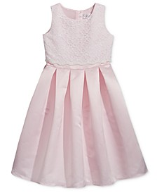 Lavender by Lace-Bodice Satin Dress, Toddler Girls