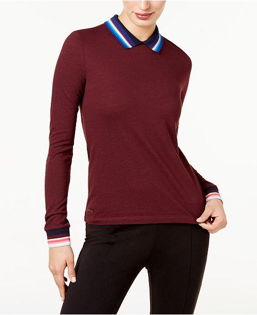 7e583944 Lacoste Holiday Piqué Polo - Tops - Women - Macy's