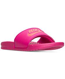 Nike Women's Benassi Just Do It Swoosh Slide Sandals from Finish Line