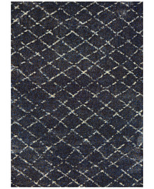 "Couristan Enclave Shag Gio Navy-Grey 2'2"" x 7'10"" Runner Area Rug"