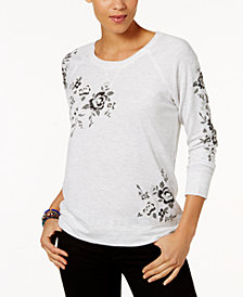 Style & Co Puff-Print Sweatshirt, Created for Macy's