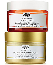 Choose your Free Ginzing or Plantscription 30ml Moisturizer with any $65 Origins Purchase!