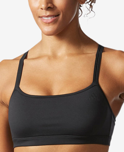 adidas ClimaLite Strappy Light-Support Sports Bra
