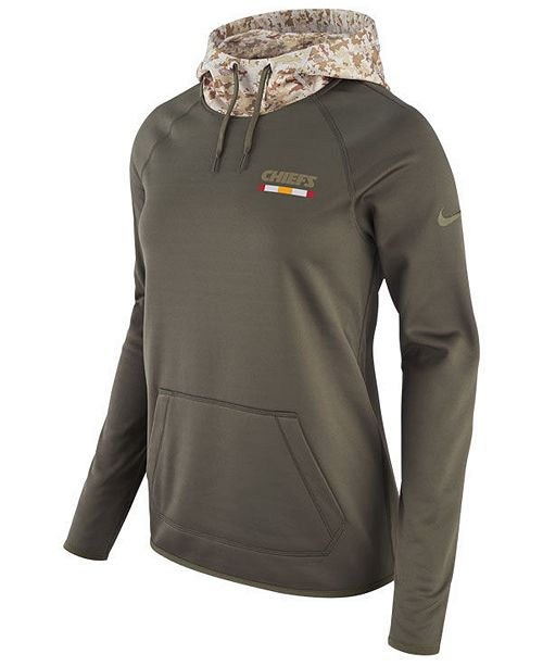 new style 45415 5219d Nike Women's Kansas City Chiefs Salute To Service Hoodie ...