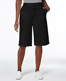 Karen Scott Drawstring-Waist Skimmer Shorts, Created for Macy's
