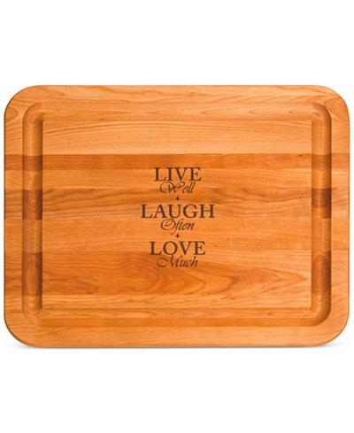 Catskill Craft Live, Laugh, Love Cutting Board