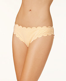 Jessica Simpson Cotton Candy Scalloped Hipster Bikini Bottoms