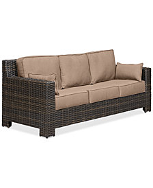 Viewport Wicker Outdoor Sofa: with Custom Sunbrella® Colors, Created for Macy's