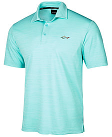 Greg Norman For Tasso Elba Men's 5 Iron Space-Dye Performance Golf Polo, Created for Macy's