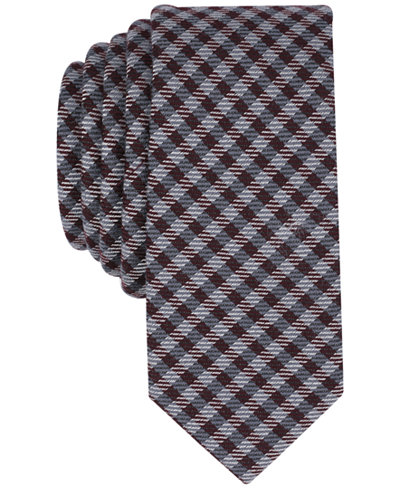 Bar III Men's Floral Plaid Skinny Tie, Created for Macy's