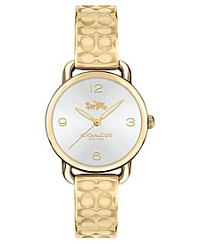 Women's Delancey Gold-Tone Etched Bangle Bracelet Watch 28mm