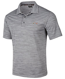 Attack Life by Greg Norman Men's Slim Fit 5 Iron Space-Dye Performance Golf Polo, Created for Macy's