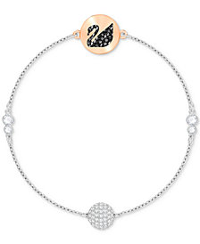 Swarovski Remix Collection Two-Tone Crystal Swan & Sphere Magnetic Bracelet