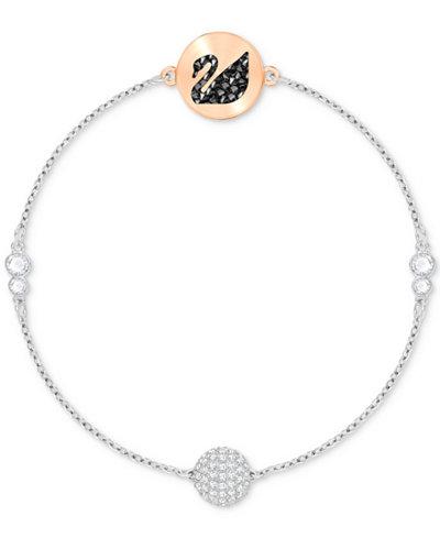Swarovski Remix Collection Two-Tone Crystal Swan & Sphere Magnetic Bracelet