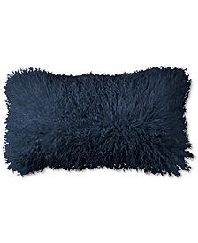 """Donna Karan  Home  Flokati Indigo 11"""" x 22"""" Decorative Pillow"""